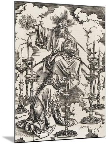 Apocalypse selon Saint Jean - Saint Jean apercevant les 7 chandeliers-Albrecht D?rer-Mounted Giclee Print