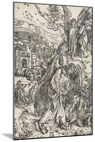 Apocalypse selon Saint Jean - L'ange portant la clé de l'Abîme-Albrecht D?rer-Mounted Giclee Print