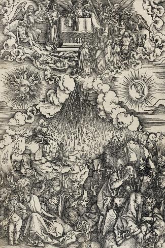 Apocalypse selon Saint Jean - L'ouverture des 5e et 6e sceaux-Albrecht D?rer-Stretched Canvas Print