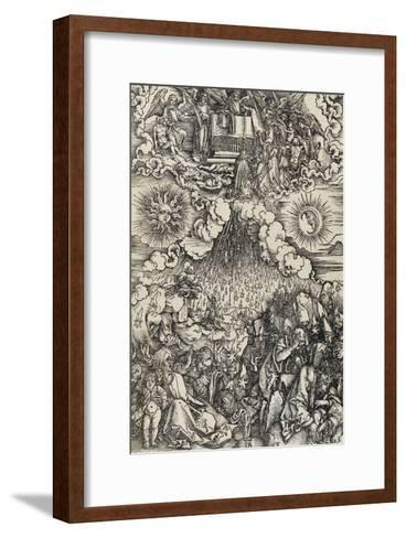 Apocalypse selon Saint Jean - L'ouverture des 5e et 6e sceaux-Albrecht D?rer-Framed Art Print