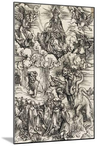 Apocalypse selon Saint Jean - Le monstre de sept têtes et la bête à cornes-Albrecht D?rer-Mounted Giclee Print
