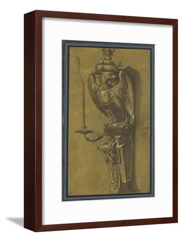 Console supportant un candélabre-Jacopo Ligozzi-Framed Art Print