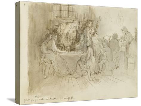 Concert en appartement-Edgar Degas-Stretched Canvas Print