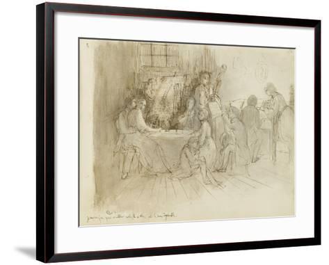 Concert en appartement-Edgar Degas-Framed Art Print