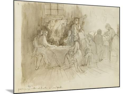 Concert en appartement-Edgar Degas-Mounted Giclee Print