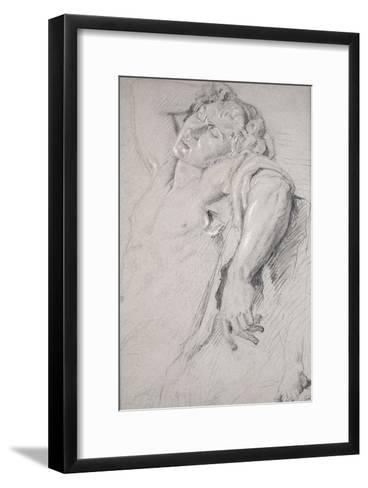 Copie d'après une statue antique (Faune Barberini)-Gustave Moreau-Framed Art Print
