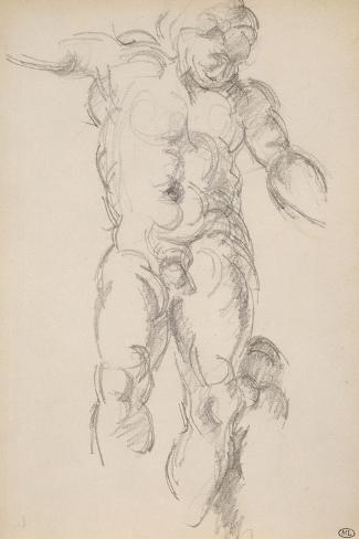 Copie d'aprés l'antique : satyre avec des cymbales-Paul C?zanne-Stretched Canvas Print