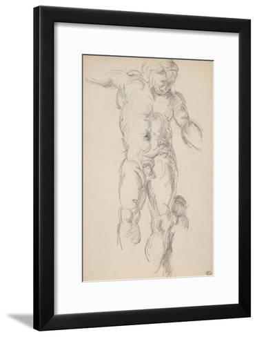 Copie d'aprés l'antique : satyre avec des cymbales-Paul C?zanne-Framed Art Print