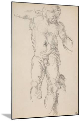 Copie d'aprés l'antique : satyre avec des cymbales-Paul C?zanne-Mounted Giclee Print
