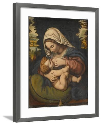 Copie de La Vierge au coussin vert-Andrea Solario-Framed Art Print