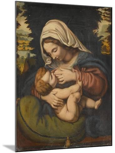 Copie de La Vierge au coussin vert-Andrea Solario-Mounted Giclee Print