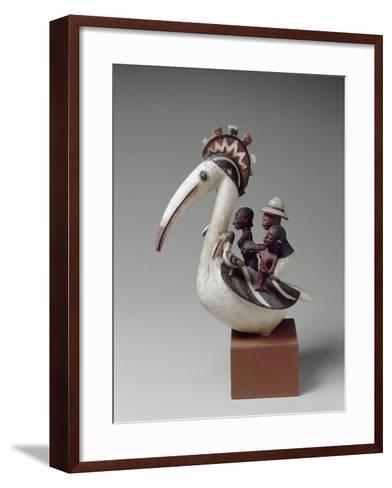 Masque cimier zoomorphe--Framed Art Print