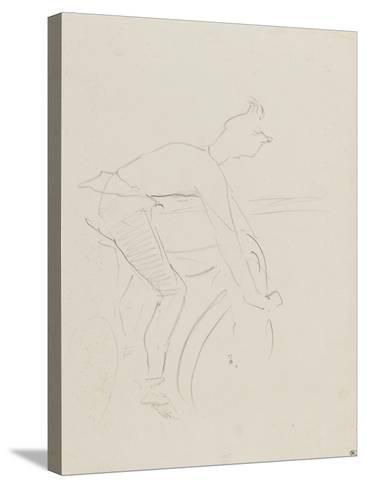 Coureur cycliste, les bras tendus sur le guidon : Zimmermann-Henri de Toulouse-Lautrec-Stretched Canvas Print
