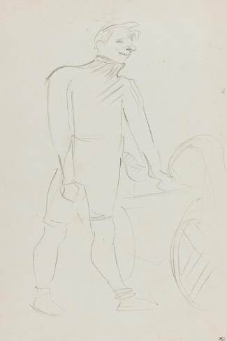 Coureur cycliste : Zimmerman et sa machine, 1894-Henri de Toulouse-Lautrec-Stretched Canvas Print