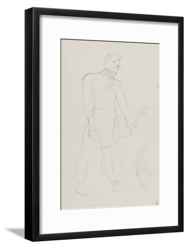 Coureur cycliste : Zimmerman et sa machine, 1894-Henri de Toulouse-Lautrec-Framed Art Print