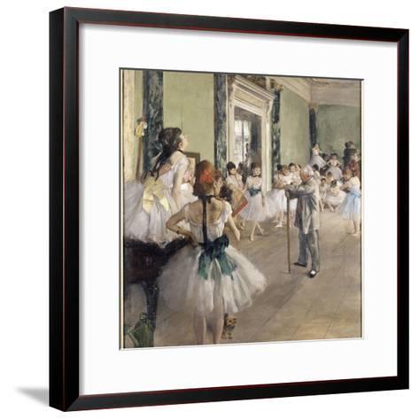 La classe de danse-Edgar Degas-Framed Art Print