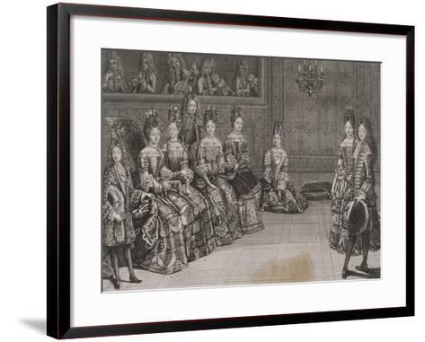 Dance: the Duke of Chartres in the Minuet with Miss-Antoine Trouvain-Framed Art Print