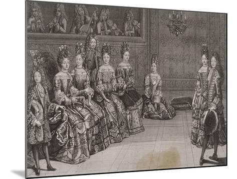Dance: the Duke of Chartres in the Minuet with Miss-Antoine Trouvain-Mounted Giclee Print