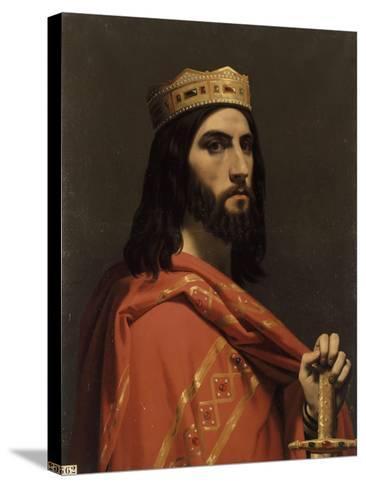Dagobert Ier, roi d'Austrasie, de Neustrie et de Bourgogne, (mort en 638)-Emile Signol-Stretched Canvas Print