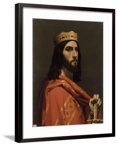 Dagobert Ier, roi d'Austrasie, de Neustrie et de Bourgogne, (mort en 638)-Emile Signol-Framed Art Print