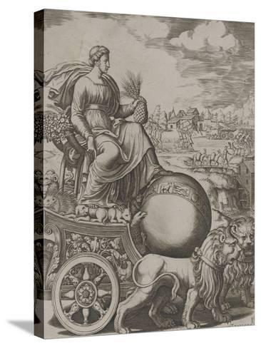 Cybèle sur son char-Bernardo II Daddi-Stretched Canvas Print