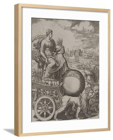 Cybèle sur son char-Bernardo II Daddi-Framed Art Print