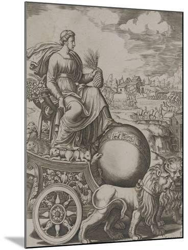 Cybèle sur son char-Bernardo II Daddi-Mounted Giclee Print
