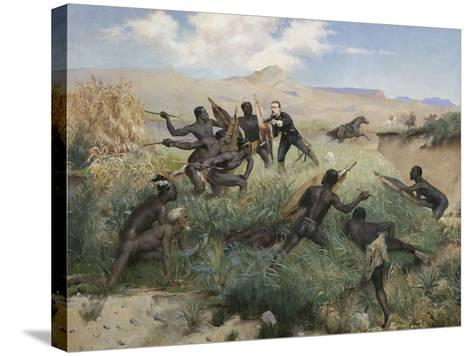 Death of the Prince Imperial in Zululand, 1 June 1879-Paul Joseph Jamin-Stretched Canvas Print