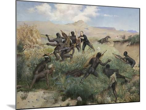 Death of the Prince Imperial in Zululand, 1 June 1879-Paul Joseph Jamin-Mounted Giclee Print