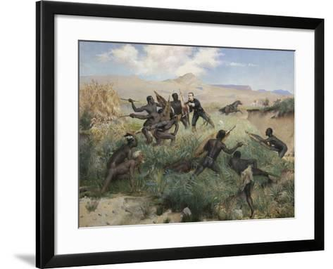 Death of the Prince Imperial in Zululand, 1 June 1879-Paul Joseph Jamin-Framed Art Print