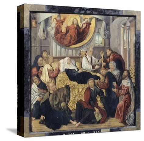 Death of the Virgin Mary - St. Matthew and St. Mark-Hugo Van Der Goes-Stretched Canvas Print