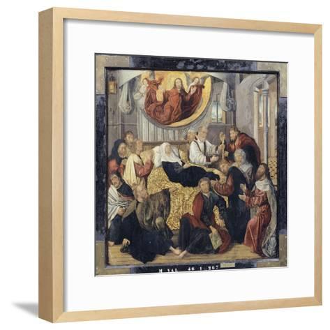 Death of the Virgin Mary - St. Matthew and St. Mark-Hugo Van Der Goes-Framed Art Print