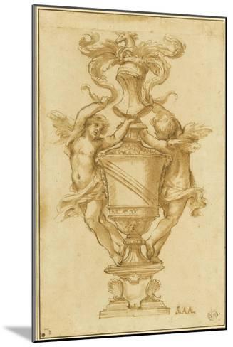 Decorative Vase with the Arms of Albergati Bologna-Alessandro Algardi-Mounted Giclee Print