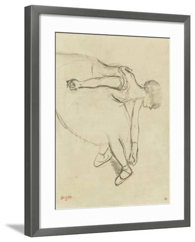 Danseuse en quatrième position-Edgar Degas-Framed Art Print