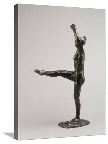 Danseuse, position de quatrième devant sur la jambe gauche, première étude-Edgar Degas-Stretched Canvas Print