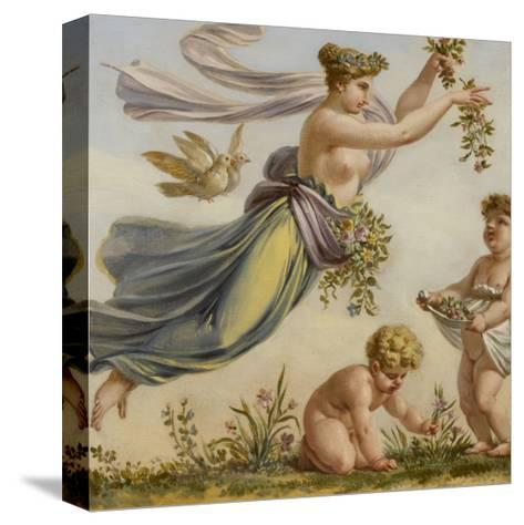 Décor du salon des Saisons de l'hôtel de Lannoy : Le Printemps-Pierre Paul Prud'hon-Stretched Canvas Print