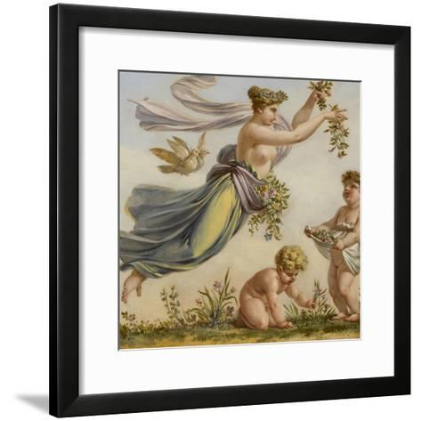 Décor du salon des Saisons de l'hôtel de Lannoy : Le Printemps-Pierre Paul Prud'hon-Framed Art Print
