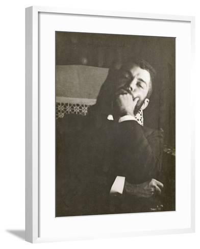 Monsieur Daniel Halévy (1872-1962)-Edgar Degas-Framed Art Print