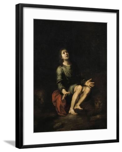 Daniel dans la fosse aux lions-Bartolome Esteban Murillo-Framed Art Print