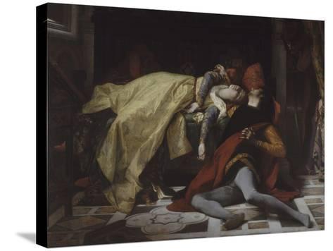 Mort de Francesca de Rimini et de Paolo Malatesta-Alexandre Cabanel-Stretched Canvas Print