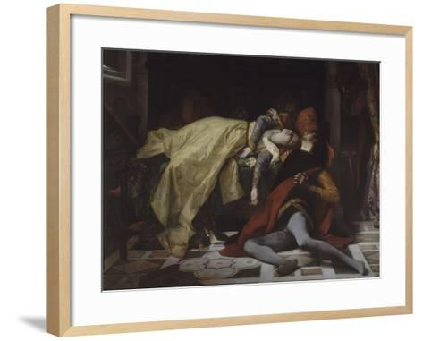 Mort de Francesca de Rimini et de Paolo Malatesta-Alexandre Cabanel-Framed Art Print