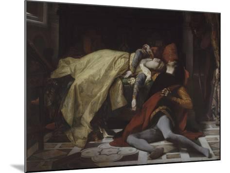 Mort de Francesca de Rimini et de Paolo Malatesta-Alexandre Cabanel-Mounted Giclee Print