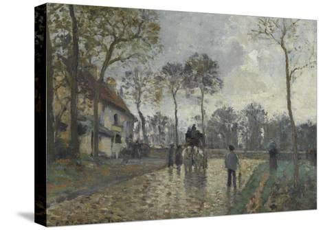 La diligence à Louveciennes (Yvelines)-Camille Pissarro-Stretched Canvas Print