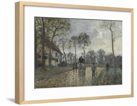 La diligence à Louveciennes (Yvelines)-Camille Pissarro-Framed Art Print
