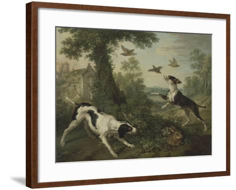 Chien chassant-Christophe Huet-Framed Art Print