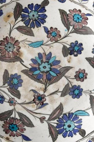 Plat à décor floral pastel--Stretched Canvas Print