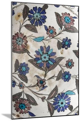 Plat à décor floral pastel--Mounted Giclee Print