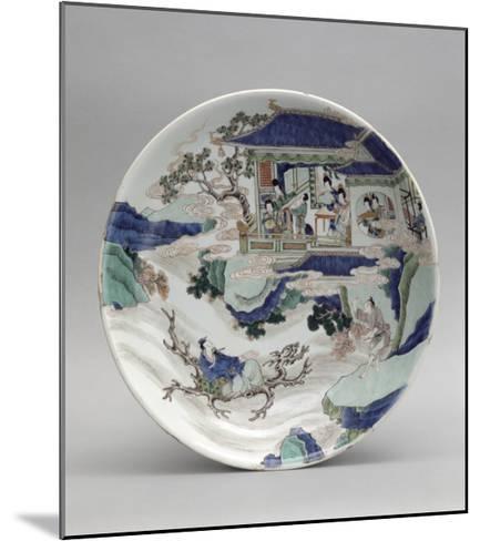 Plat à décor de personnages et paysage--Mounted Giclee Print