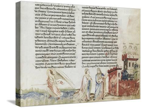 Divine Comédie de Dante. L'Enfer avec un commentaire de Fra Guido de Pise--Stretched Canvas Print