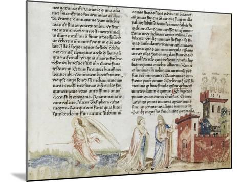 Divine Comédie de Dante. L'Enfer avec un commentaire de Fra Guido de Pise--Mounted Giclee Print
